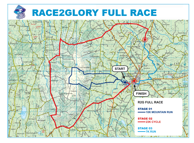Race2Glory map